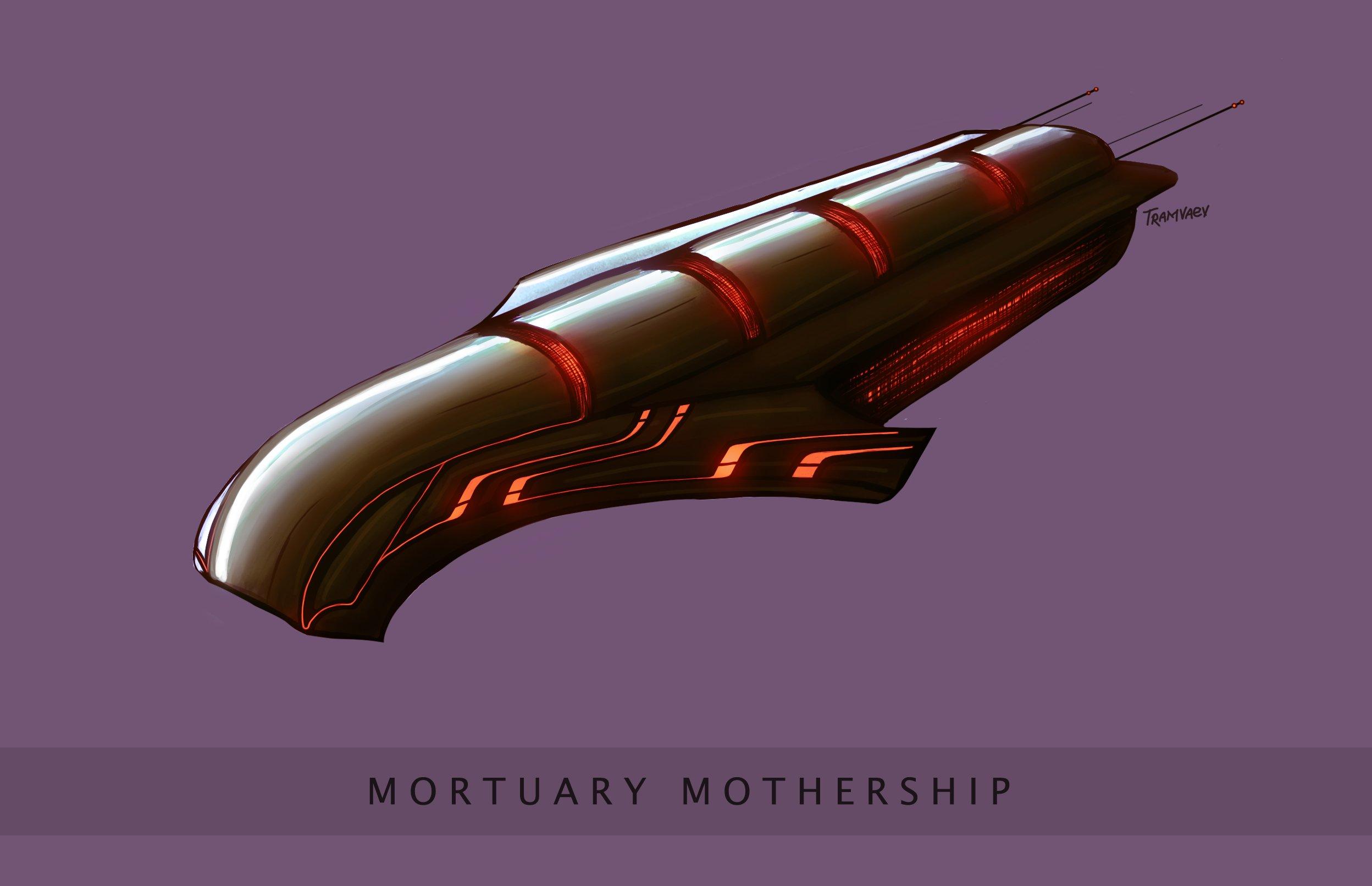 Попрактиковался в рисовании всяких космических кораблей.Конкретно этот - отсылка к одному из рассказов Рэя Брэдбери. ... - Изображение 1