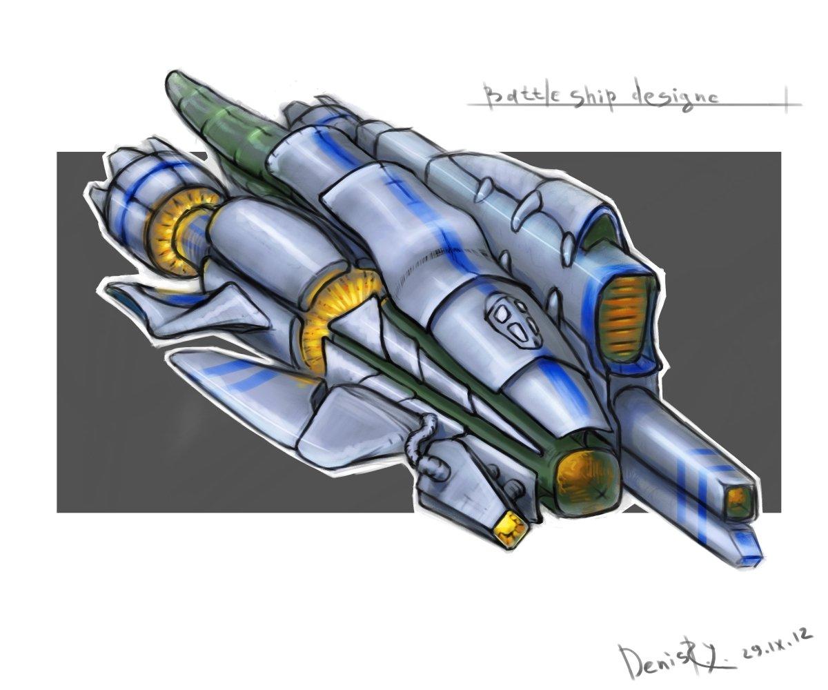 4-х часовой эскиз боевого корабля) - Изображение 1