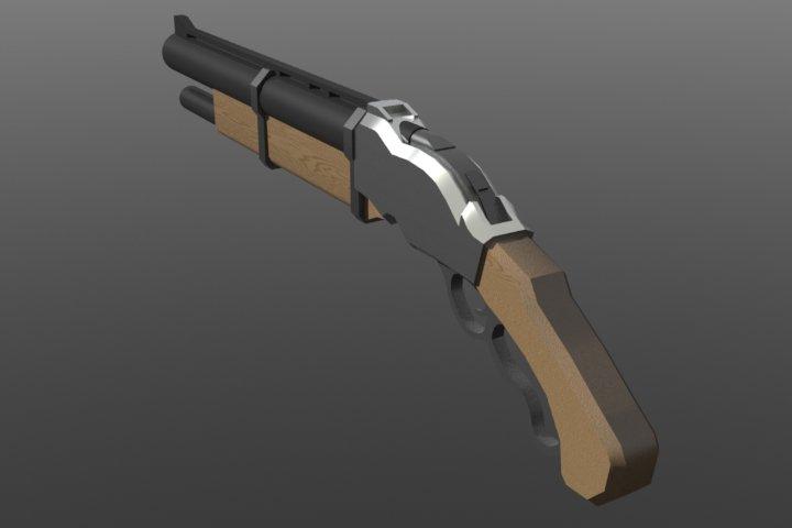Первая попытка сделать что-то в 3D-редакторе. Делалось в основном по арту Bioshock Infinite (так что прошу без жалоб ... - Изображение 3