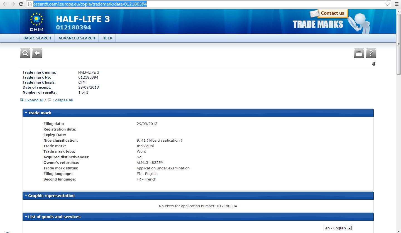 Компания Valve зарегистрировала торговую марку Half Life 3 - Изображение 1