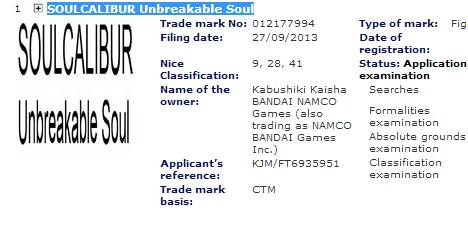 Зарегистрирована торговая марка Soul Calibur: Unbreakable Sword. - Изображение 1