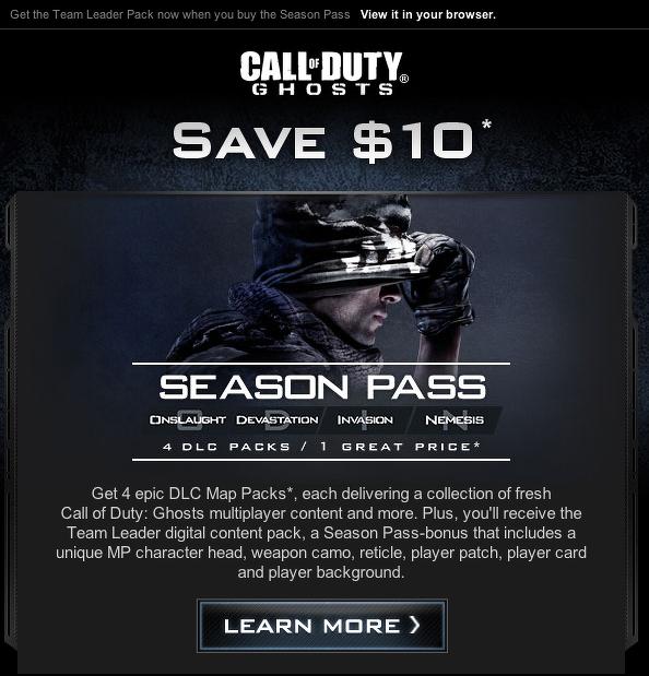 Activision подготовит четыре дополнения для Call of Duty: Ghosts  - Изображение 1