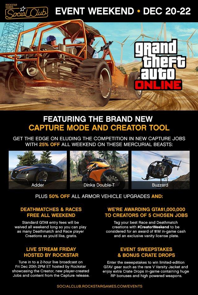 GTA Online устраивает конкурс со скидками и другие события пятницы - Изображение 1