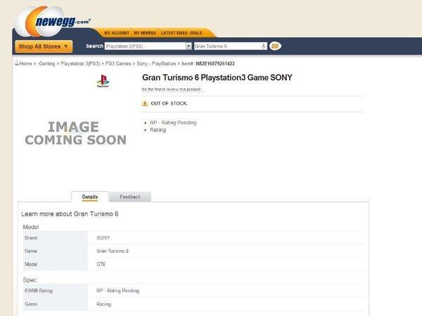Gran Turismo 6 появилась в списках интернет-магазинов. - Изображение 1
