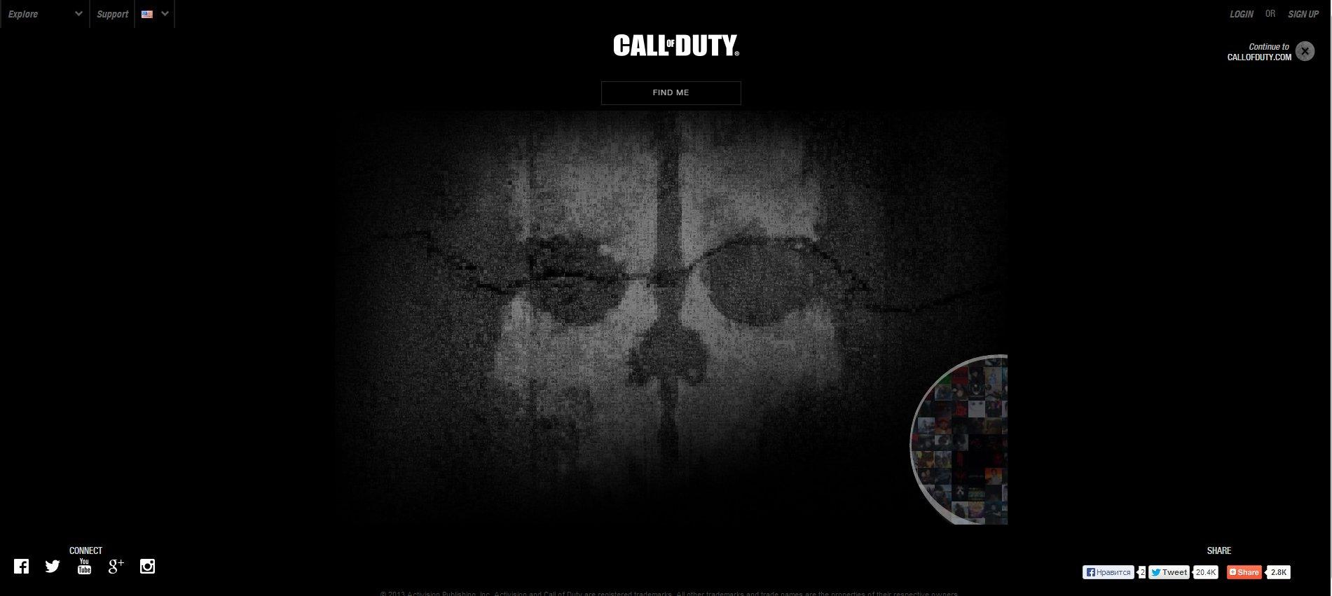 Запущен сайт Call of Duty: Ghosts - Изображение 1