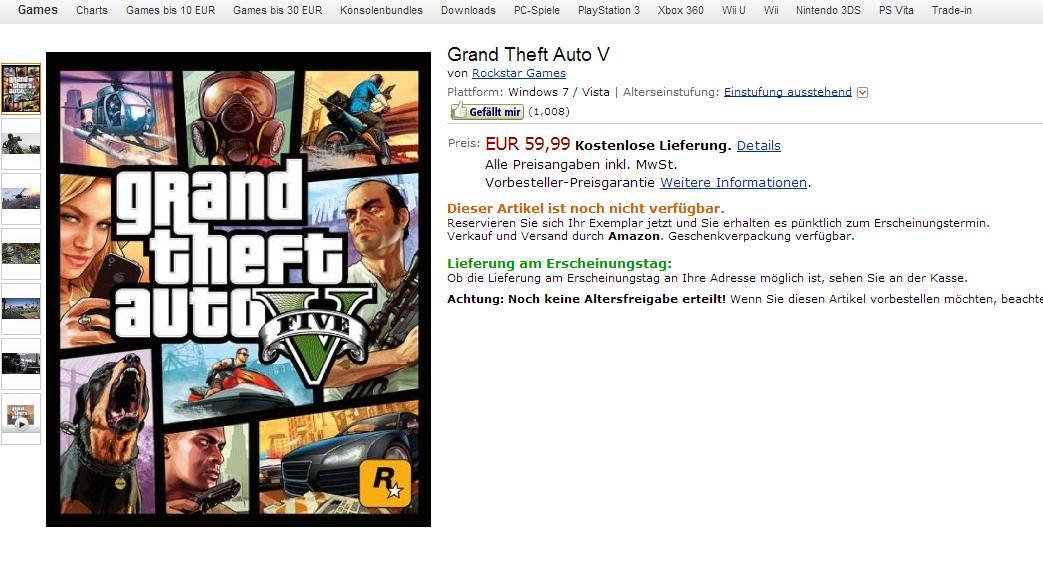 Интернет-магазин раскрыл PC-версию GTA V - Изображение 1