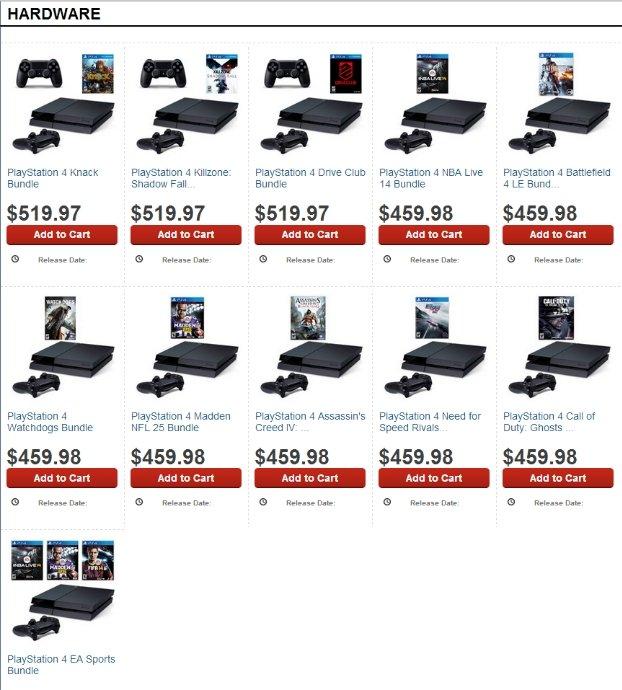 Стали известны первые комплекты Xbox One и PlayStation 4. - Изображение 1