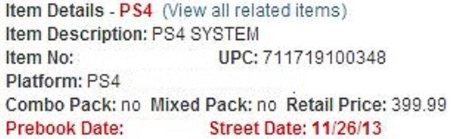 Стала известна дата релиза PlayStation 4 - Изображение 1