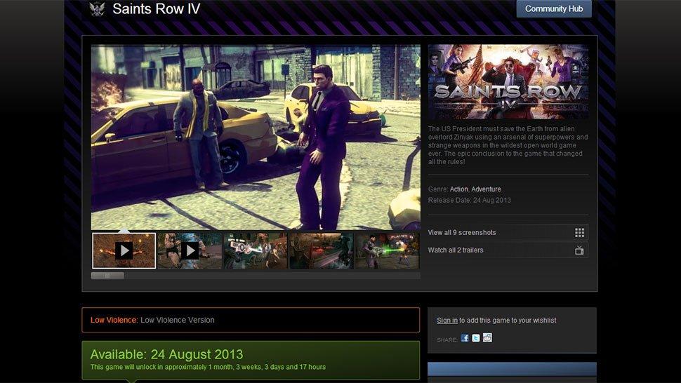 В Steam появилась версия Saints Row 4 с низким уровнем насилия - Изображение 1