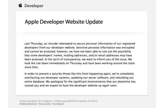 Сайт разработчиков Apple был взломан - Изображение 1