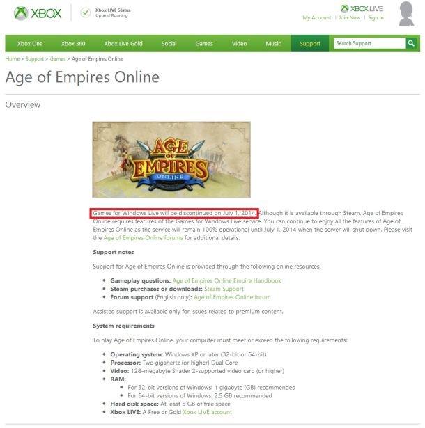 Games for Windows Live закрывается в 2014 - Изображение 1