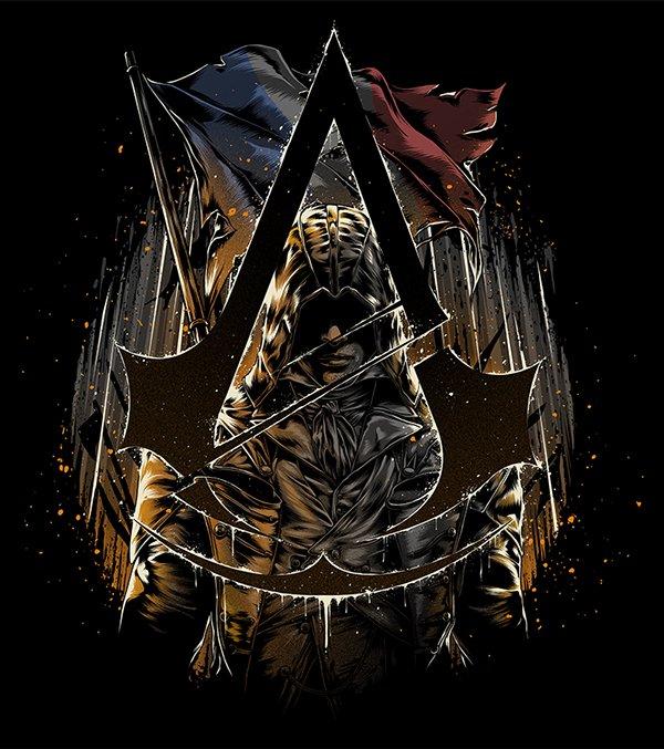 Не самые крутые футболки, зато прикольный арт по Assassin's Creed - Изображение 6
