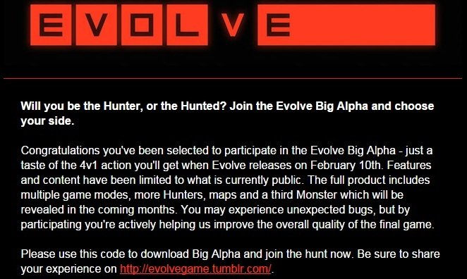 Пострелушки в альфа-тесте Evolve - Изображение 1