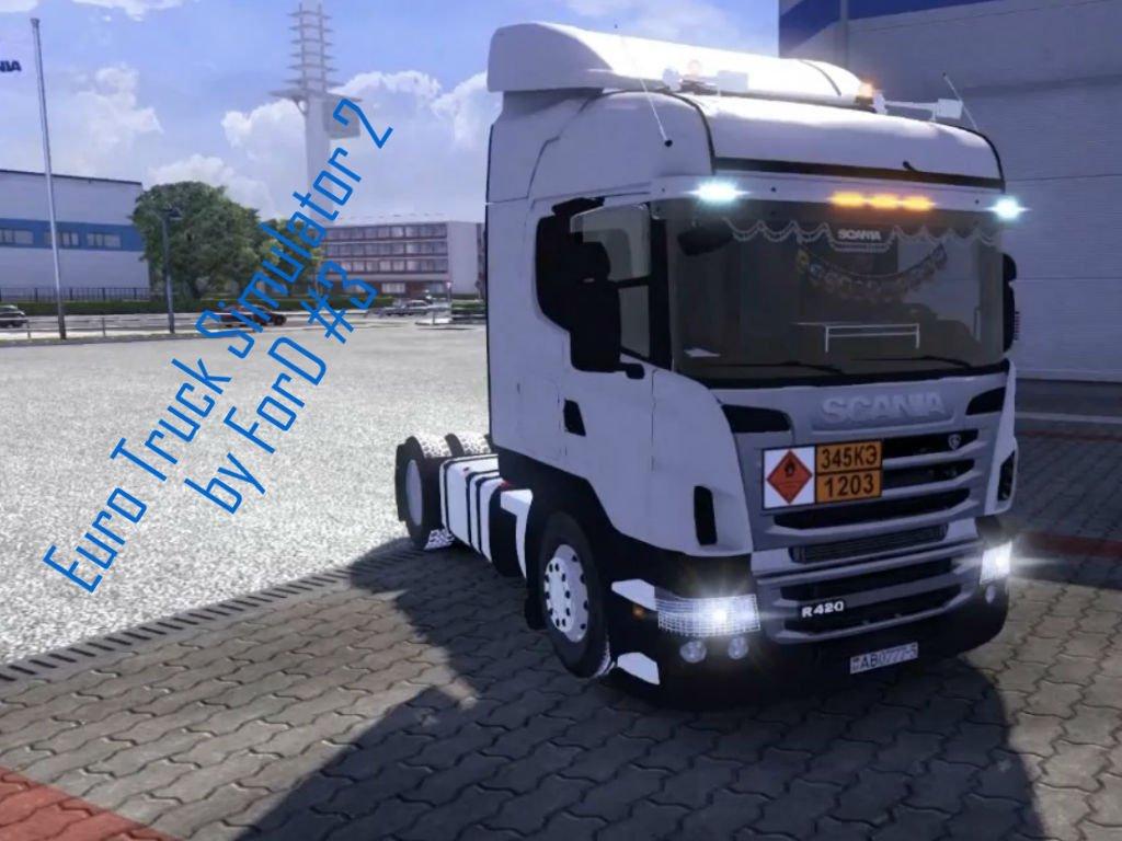 Euro Truck Simulator 2 - везем яблока на грузовике Scania R360 за рулем Logitech G27  - Изображение 1
