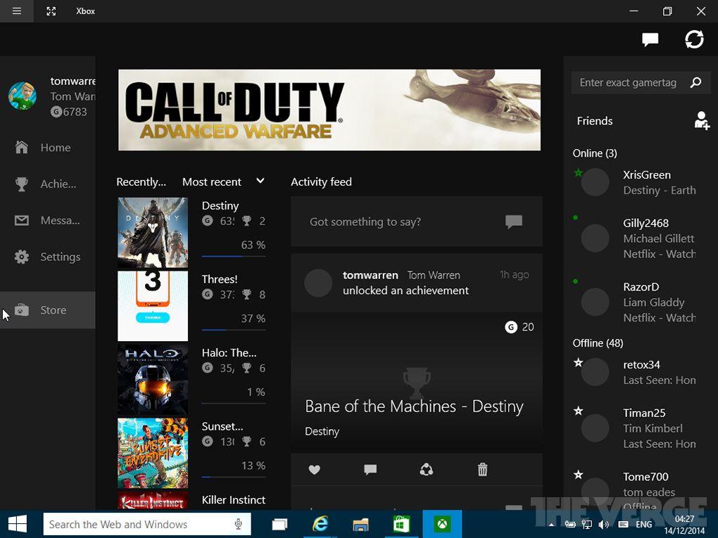 Пользователи опубликовали скриншоты приложения Xbox, которое входит в состав нового билда Windows 10 - Изображение 2