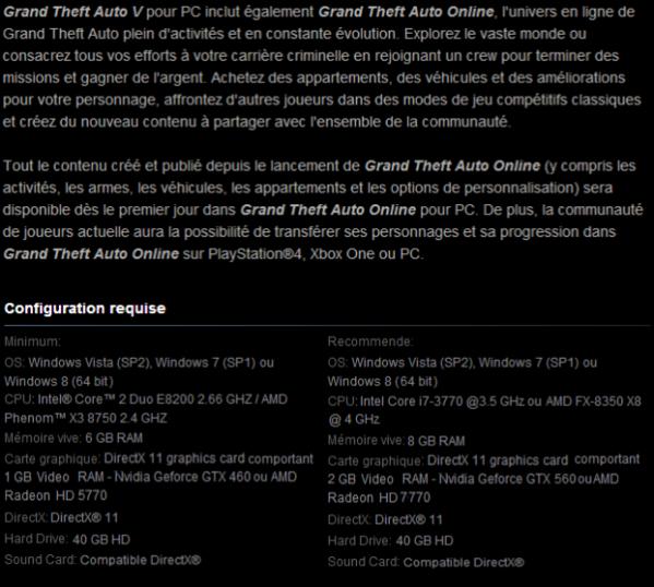 Steam слил системные требования GTA V - Изображение 2