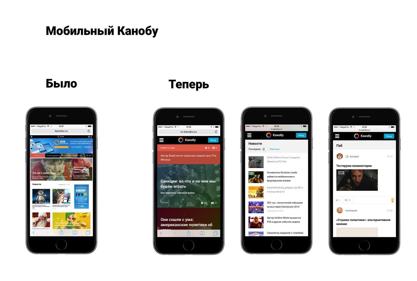 Адаптивная версия главной страницы и Паба «Канобу» - Изображение 1
