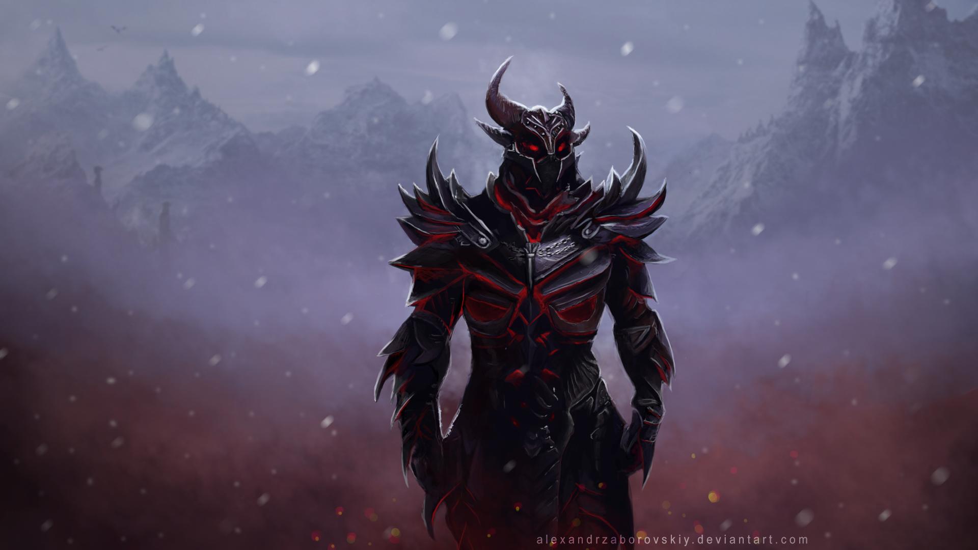 Нарисовал Daedric Armor - Изображение 1