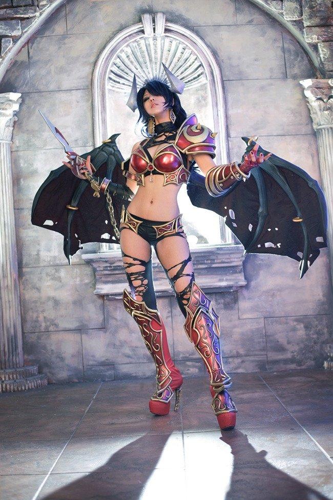 #cosplay #DOTA2 #QUEENOFPAIN #fapfap #котики  - Изображение 5
