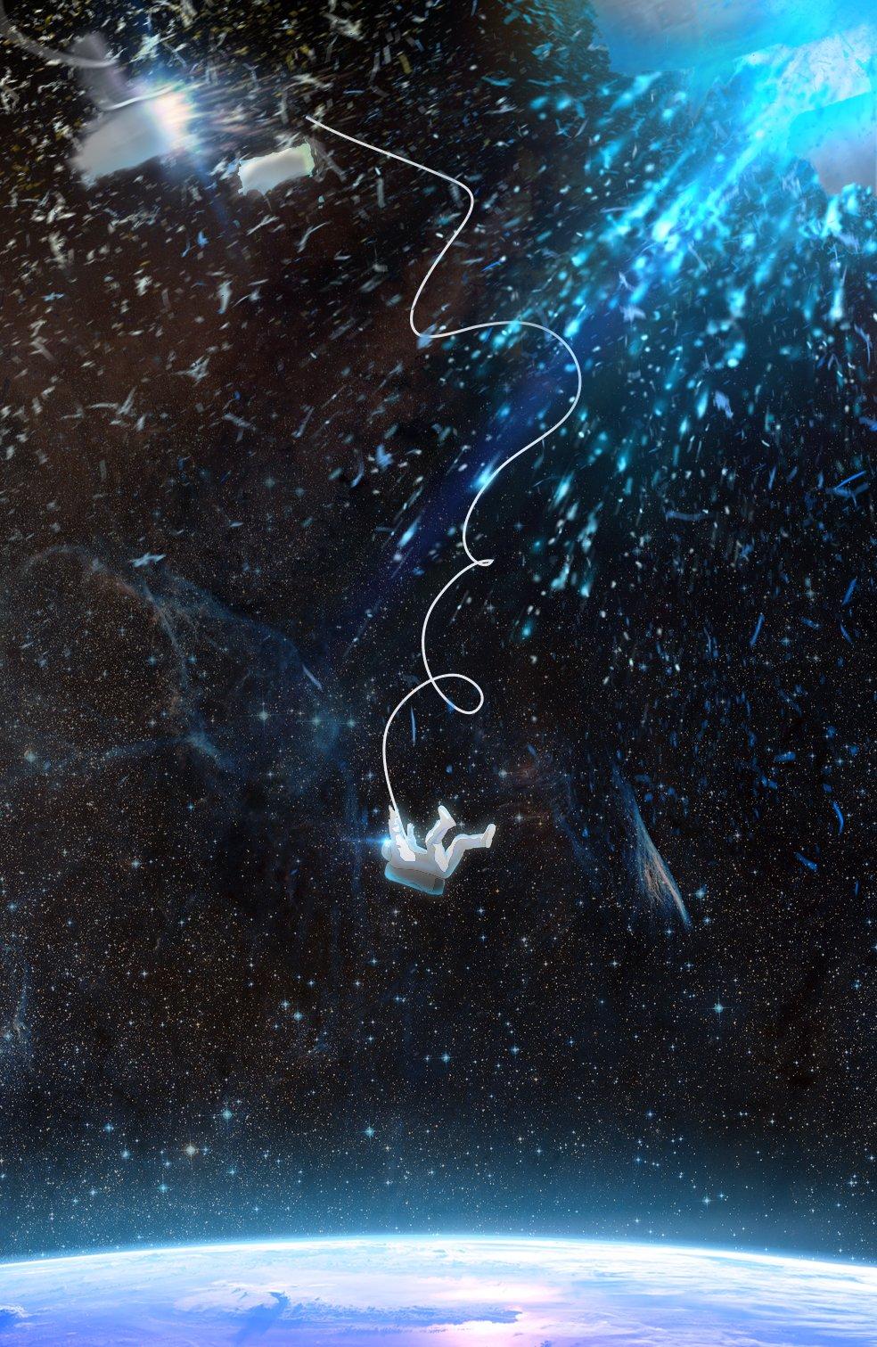 """И сделал еще один арт по фильму """"Гравитация"""" - Изображение 1"""