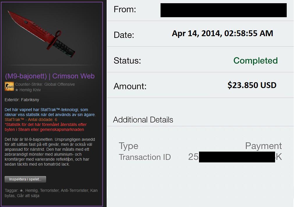 нож из Counter-Strike: GO купили за 24 тысячи долларов. - Изображение 1