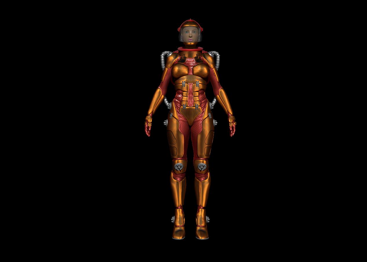 Futuristic girl 3D - Изображение 2
