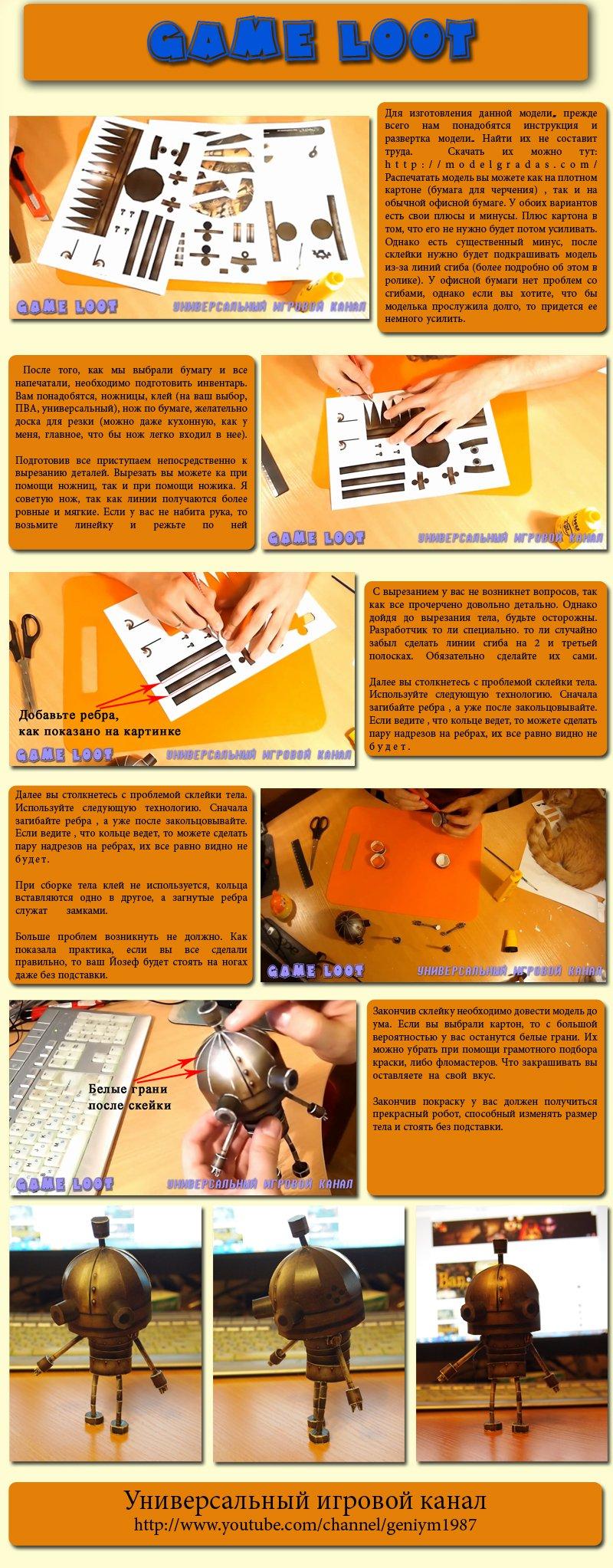 Изготовление робота Йозефа из игры Машинариум  - Изображение 1