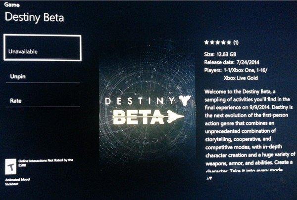 Утечка предстоящего содержания беты Destiny - Изображение 1