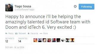 Главный инженер по графике Crytek Тиаго Соуза перешел в id Software работать над Doom и idTech 6 - Изображение 1