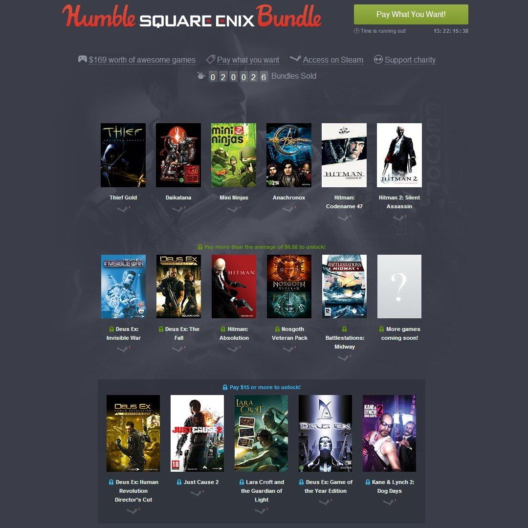 The Humble Square Enix Bundle - Изображение 1