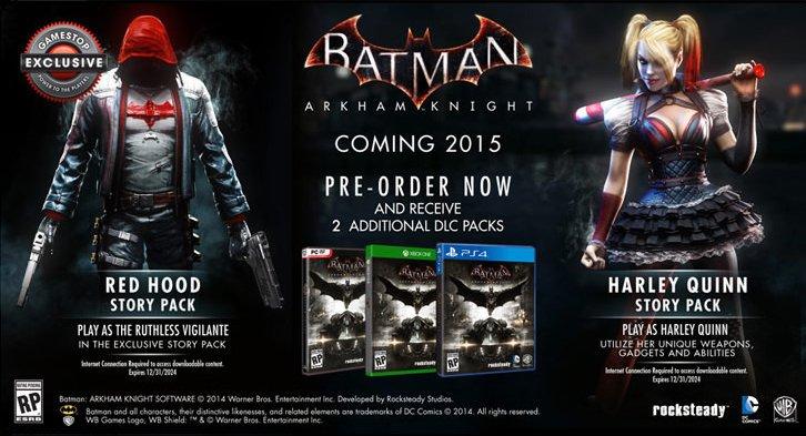 GameStop анонсировали DLC для Batman: Arkham Knight с Красным Колпаком в главной роли. - Изображение 1