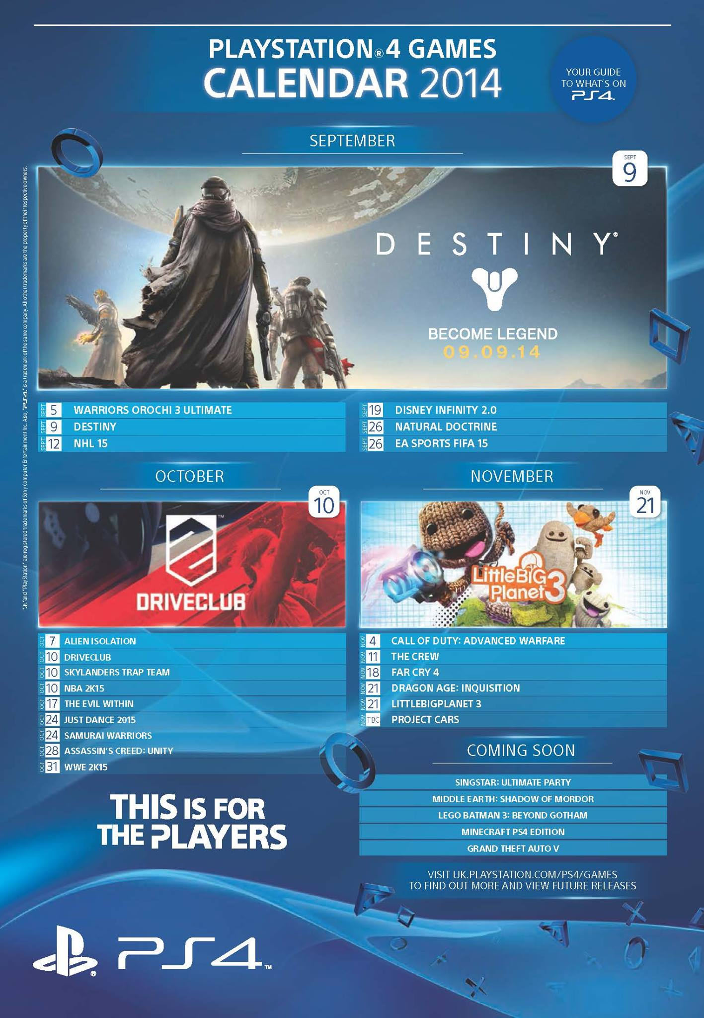 PS4 Games Calendar 2014 - Изображение 1