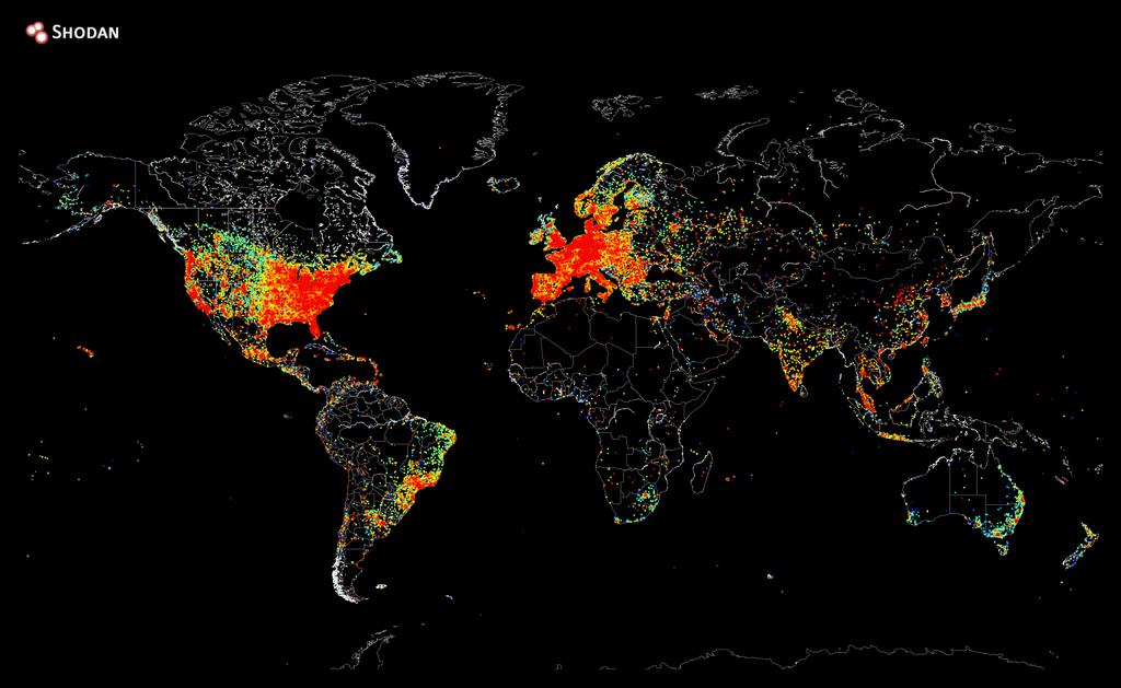 Владелец поисковика Shodan пропинговал весь интернет и составил его карту - Изображение 1