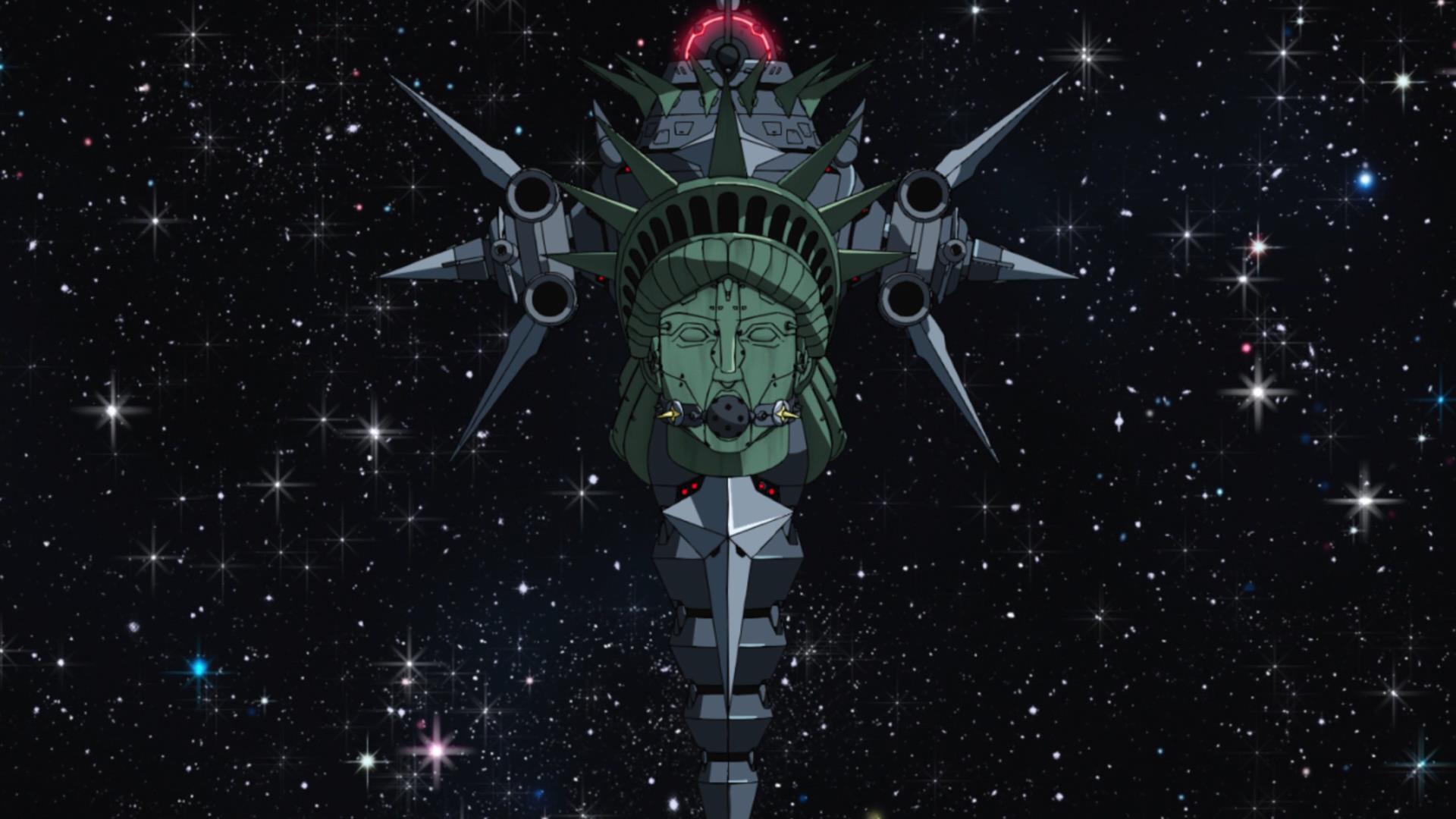 Космический корабль с мордой статуи свободы у которой БДСМ кляп во рту! - Изображение 1