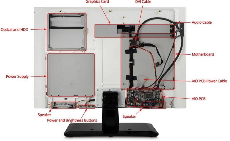 QuietPC Mono PC Chassis - моноблок контсруктор. - Изображение 2