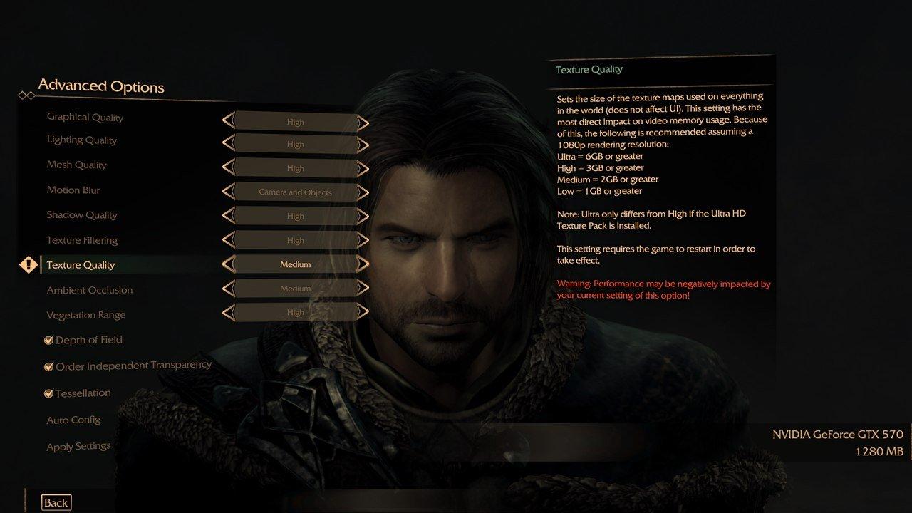 Текстуры Ultra качества в Middle-earth: Shadow of Mordor потребуют 6GB видеопамяти - Изображение 1