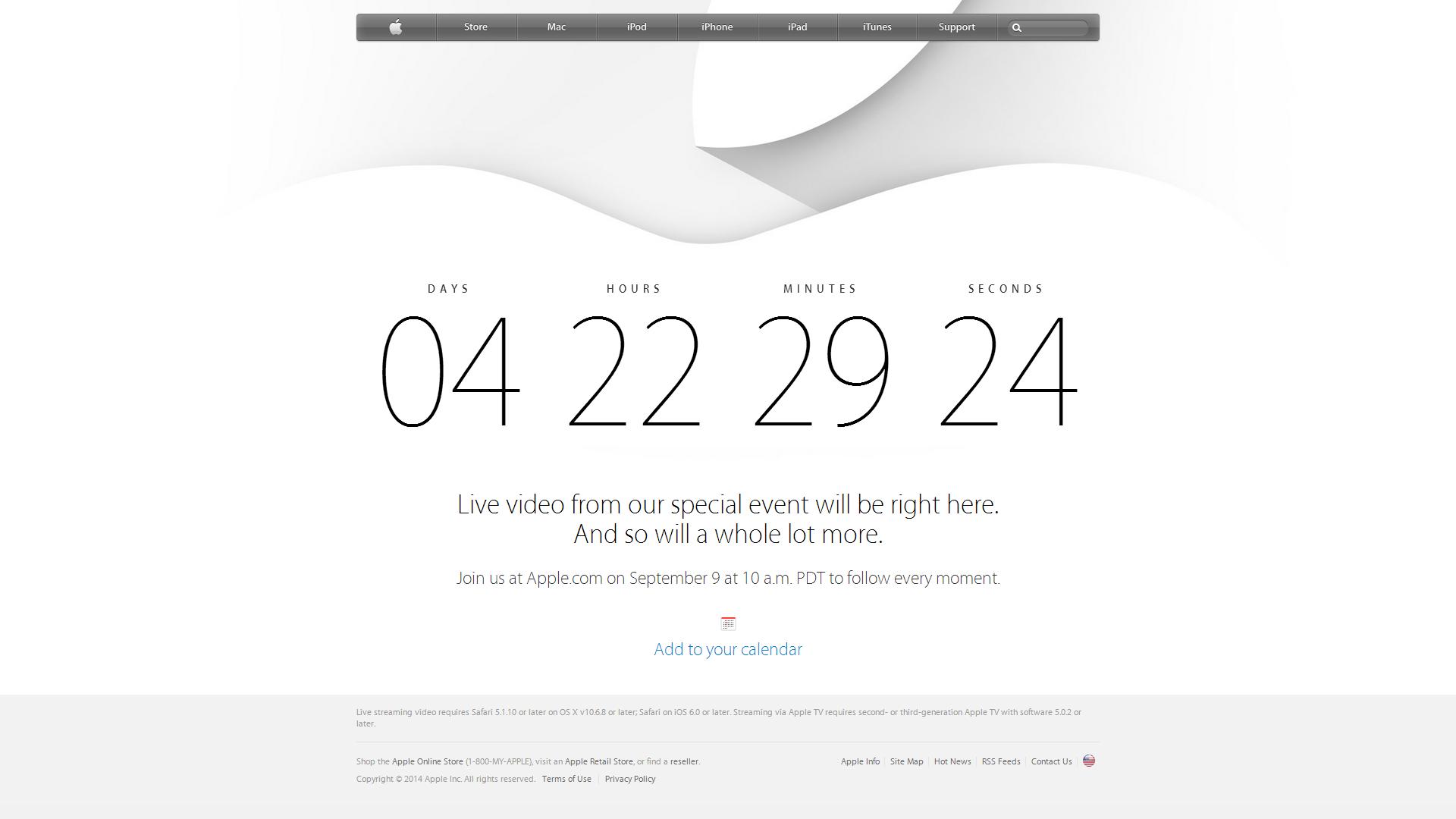 Apple будет стримить свое мероприятие 9 сентября - Изображение 1