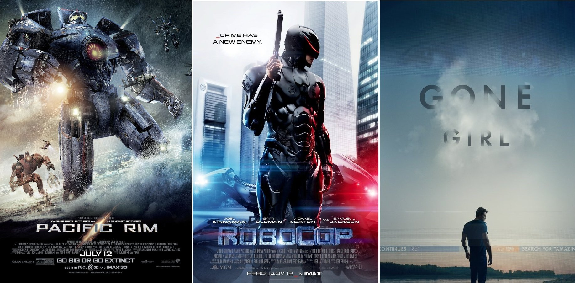 Киномарафон старика Сарказмо #1: Gone Girl / Robocop (2014) / Pacific Rim - Изображение 1