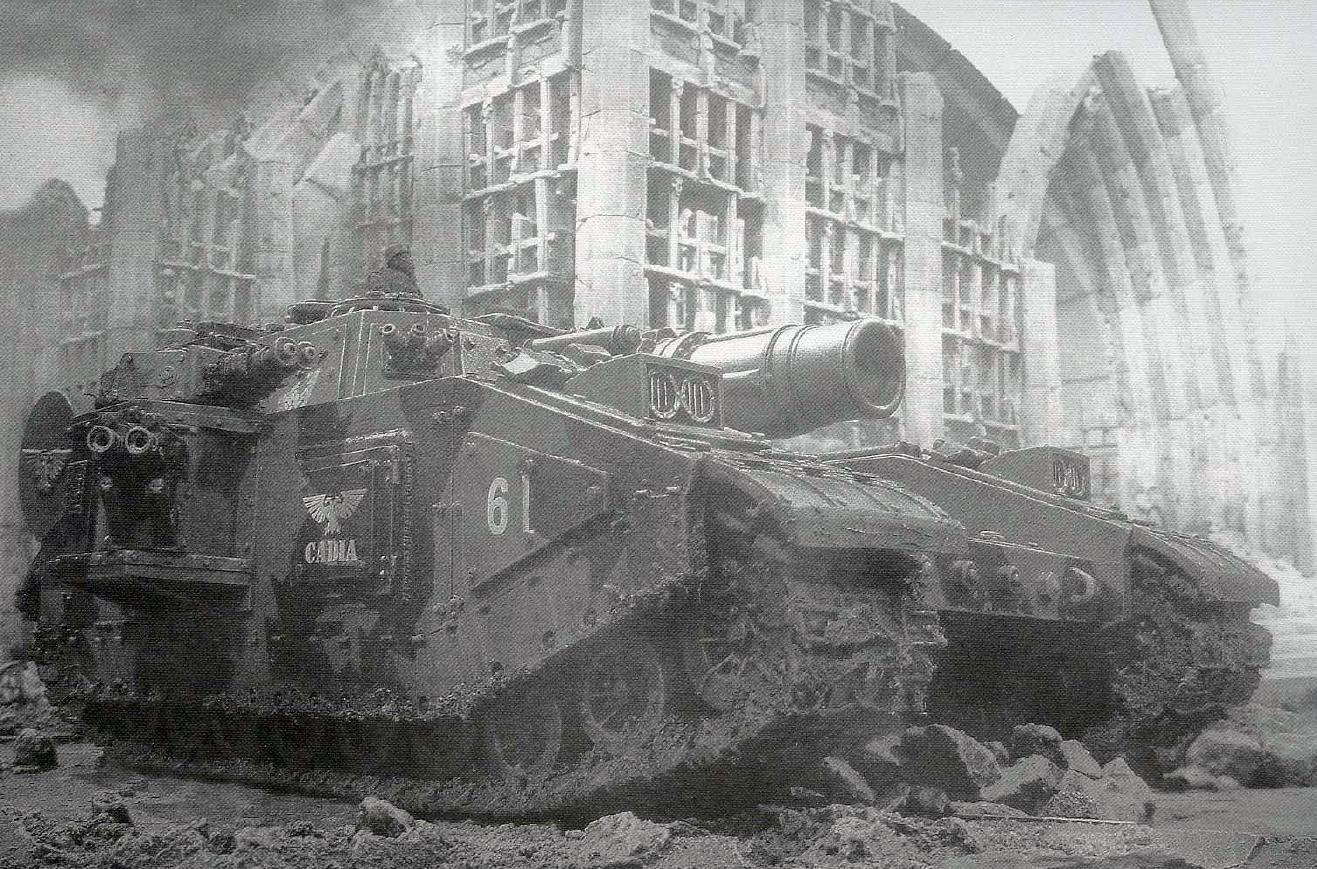 Покрас сверхтяжелого танка Stormsword (Warhammer 40000) для новичков, в 4 частях. - Изображение 1