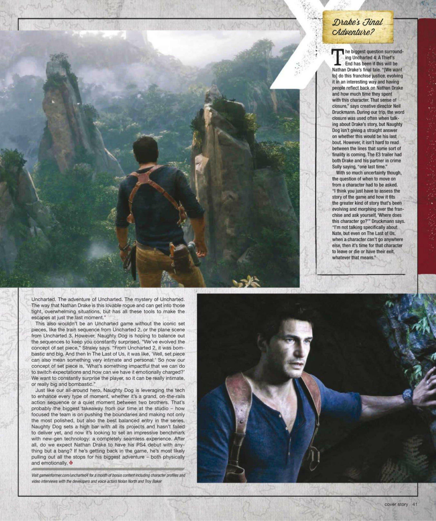Сканы Uncharted 4: A Thief's End из свежего номера Game Informer  - Изображение 12