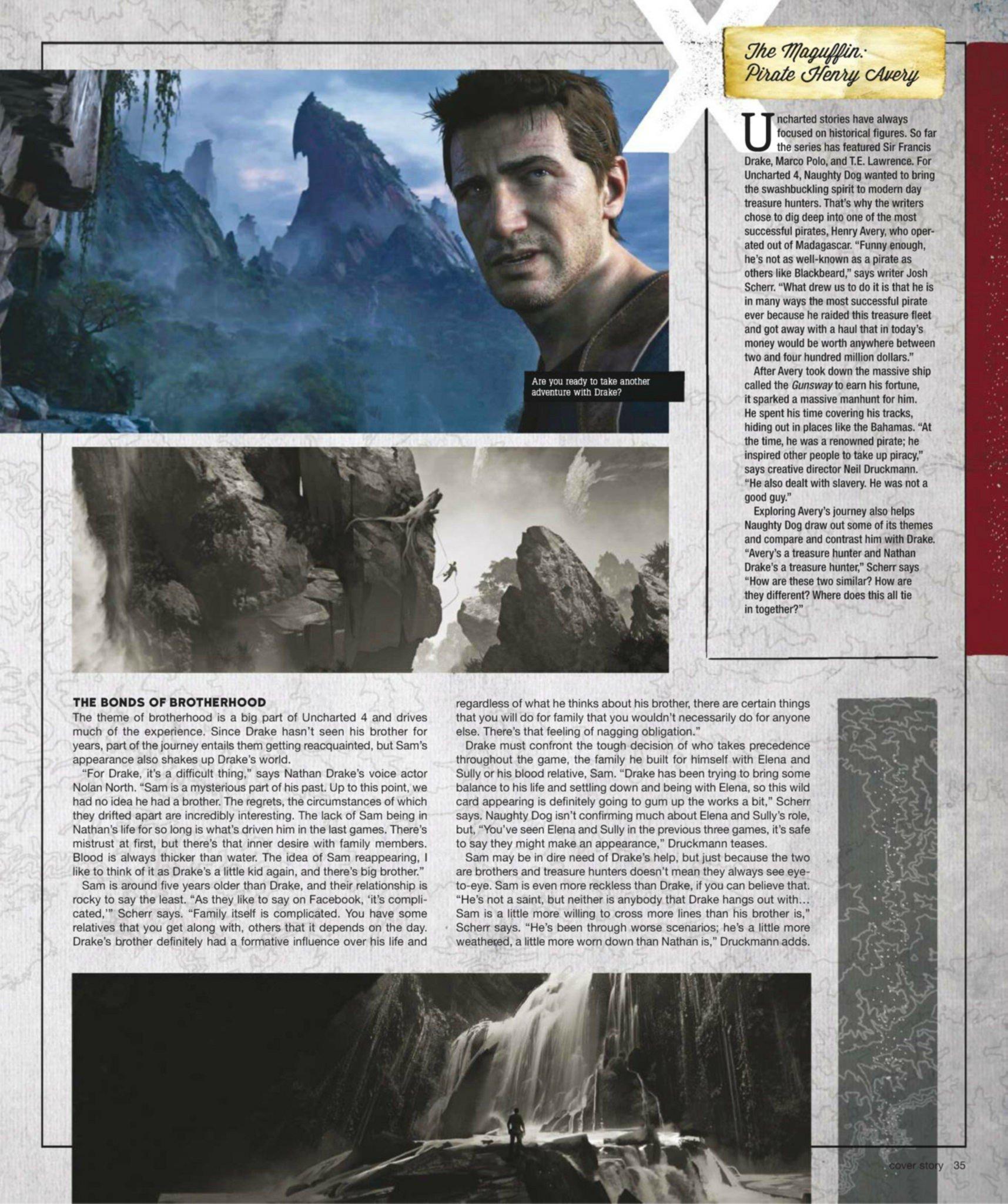 Сканы Uncharted 4: A Thief's End из свежего номера Game Informer  - Изображение 7