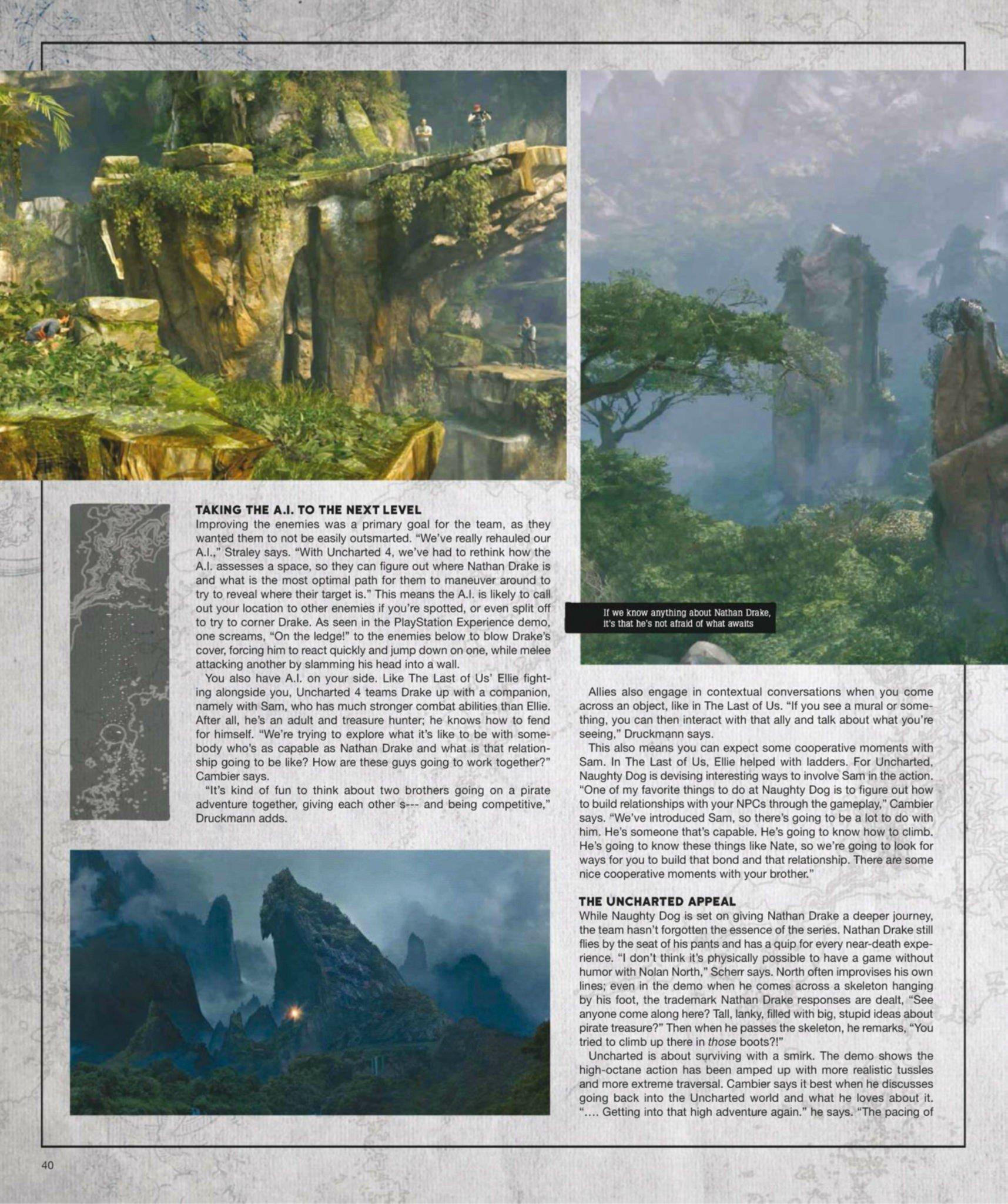 Сканы Uncharted 4: A Thief's End из свежего номера Game Informer  - Изображение 13