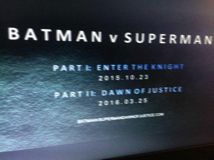 """""""Бэтмен против Супермена"""" могут разделить на две части?!  - Изображение 1"""