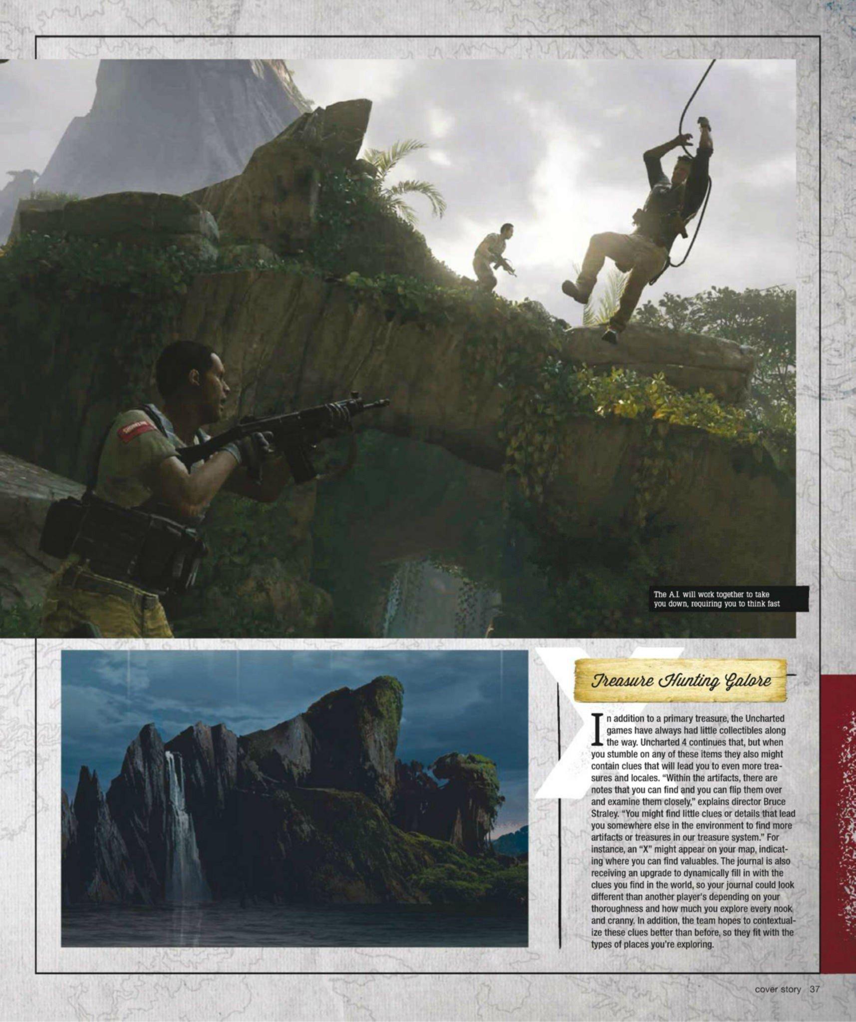 Сканы Uncharted 4: A Thief's End из свежего номера Game Informer  - Изображение 9