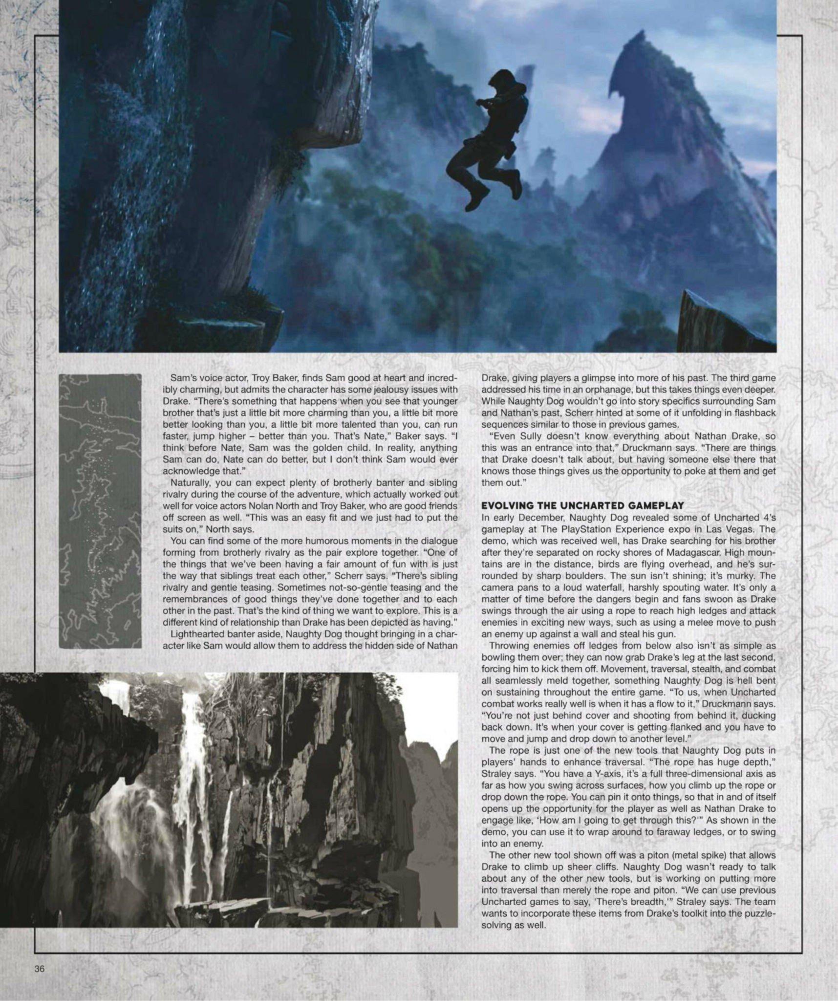 Сканы Uncharted 4: A Thief's End из свежего номера Game Informer  - Изображение 8