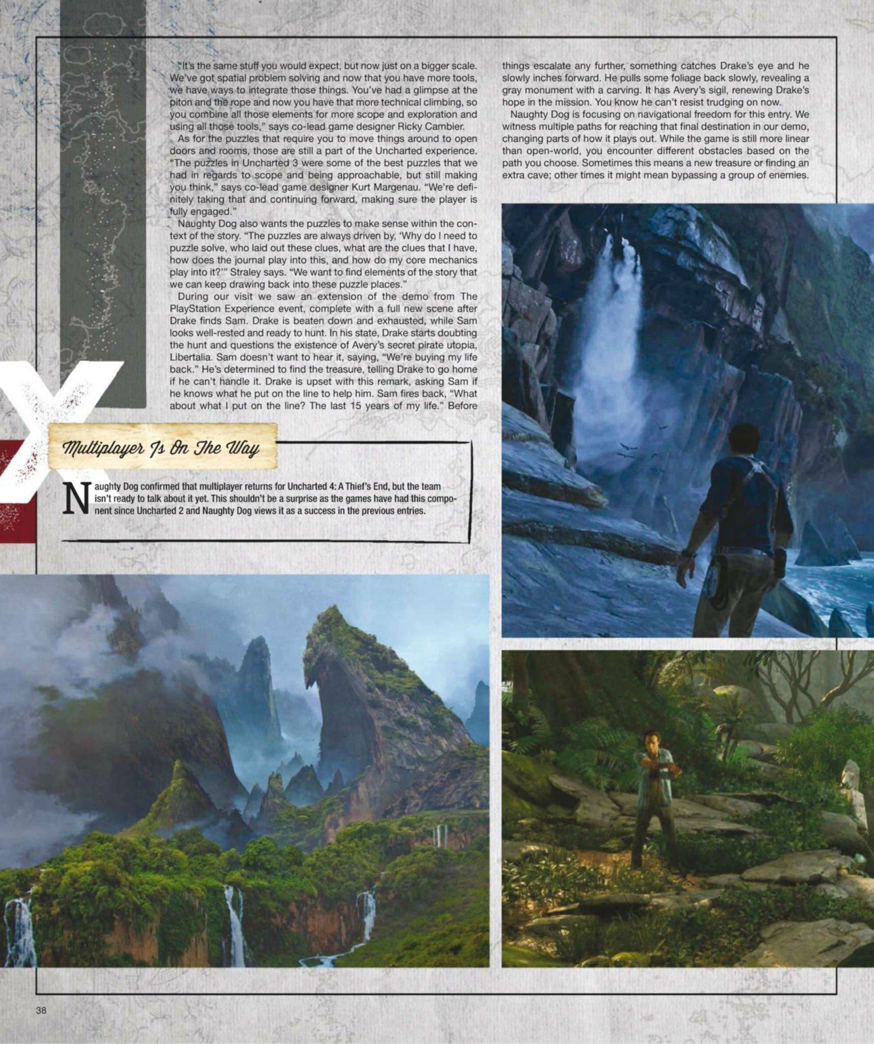 Сканы Uncharted 4: A Thief's End из свежего номера Game Informer  - Изображение 10