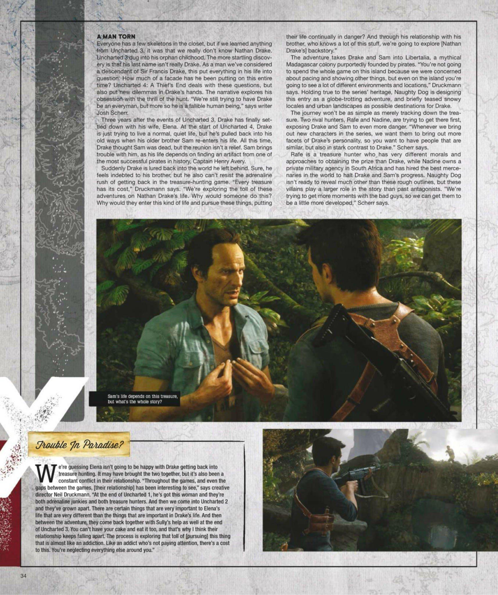 Сканы Uncharted 4: A Thief's End из свежего номера Game Informer  - Изображение 6