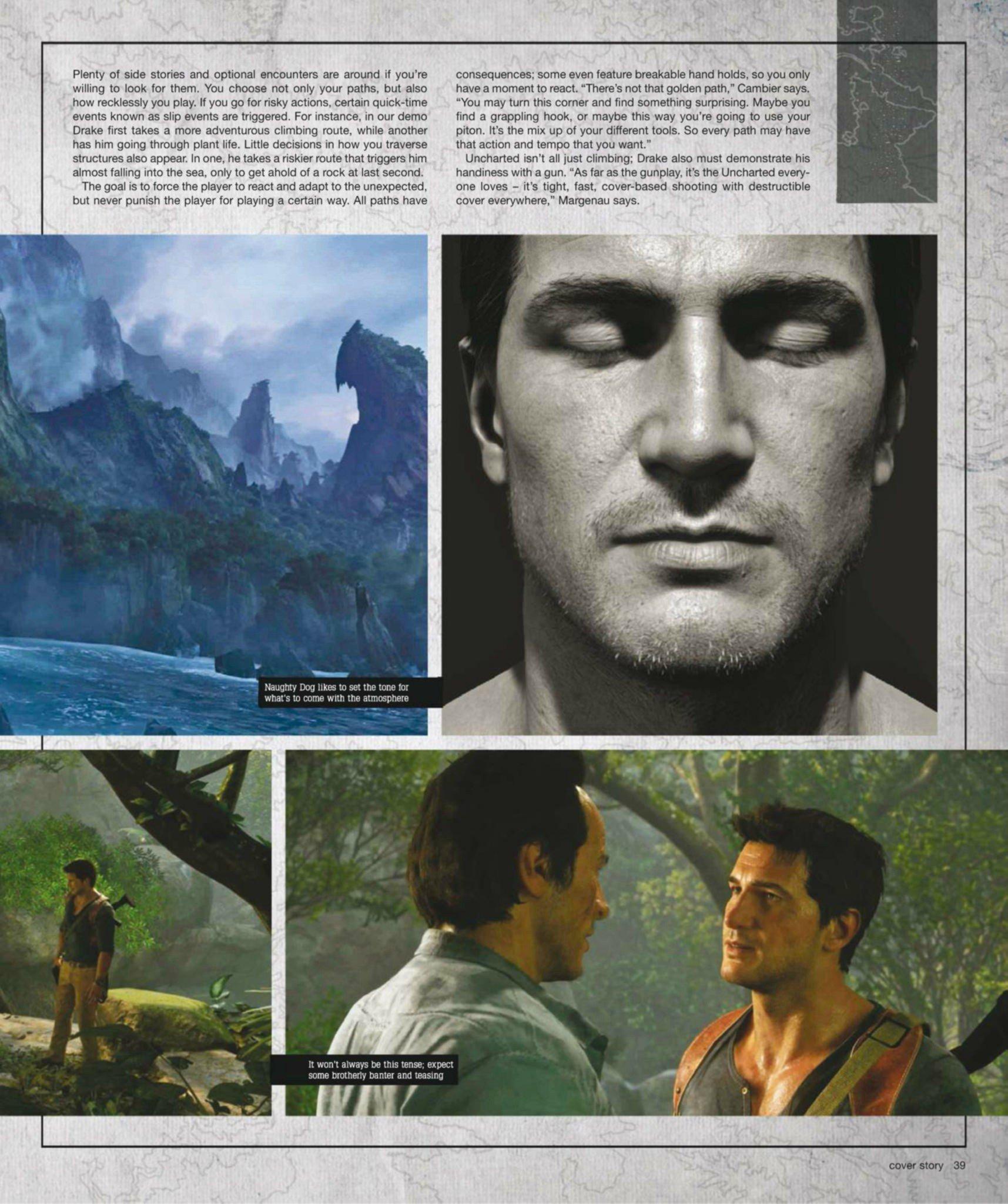 Сканы Uncharted 4: A Thief's End из свежего номера Game Informer  - Изображение 11