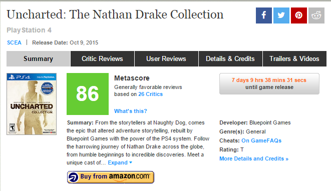 Оценки Uncharted: The Nathan Drake Collection - Изображение 1