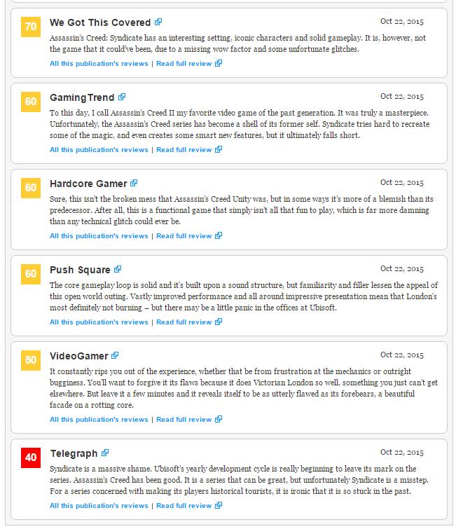 Оценки Assain`s Creed Sydicate! Не провал или мифическое занесли ? - Изображение 6